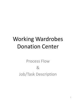 Working Wardrobes Donation Center