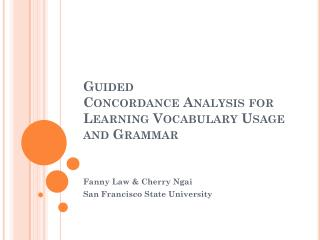 Guided Concordance Analysis for Learning Vocabulary Usage and Grammar