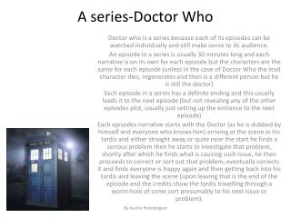 A series-Doctor Who