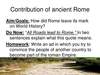 Contribution of ancient Rome