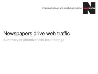 Newspapers drive web traffic