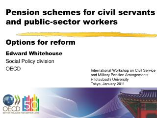 Pension schemes for civil servants and public-sector workers