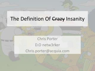 The Definition Of  Crazy  Insanity