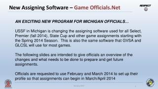 New Assigning Software –  Game Officials.Net