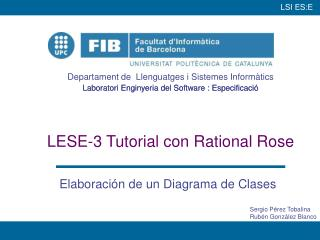 LESE-3 Tutorial con Rational Rose