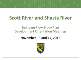Scott River and Shasta River