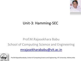 Unit-3: Hamming-SEC