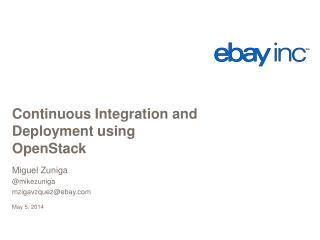 Continuous Integration and Deployment using  OpenStack