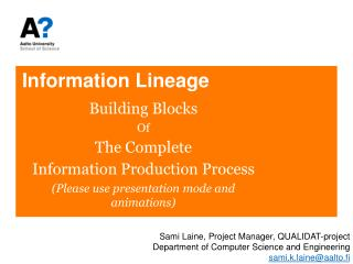 Information Lineage