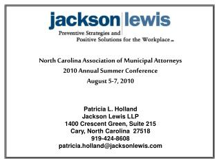 North Carolina Association of Municipal Attorneys 2010 Annual Summer Conference  August 5-7, 2010