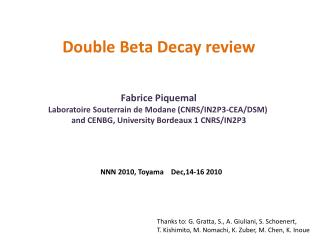 Double Beta  Decay review