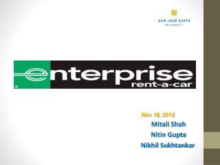 Nov 19, 2012 Mitali Shah Nitin Gupta Nikhil Sukhtankar