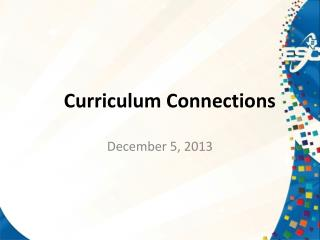 Curriculum Connections