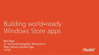 Building world-ready  Windows Store apps