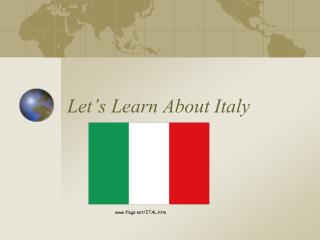 Let's Learn About Italy
