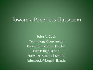 Toward a Paperless Classroom