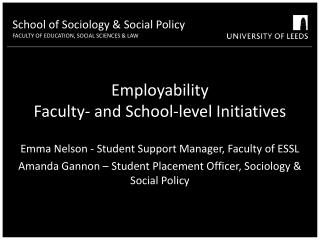 Employability  Faculty- and School-level Initiatives
