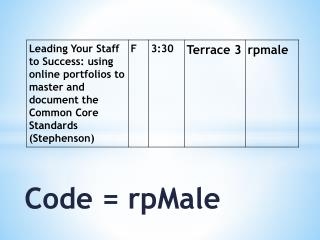Code = rpMale