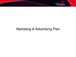 Marketing & Advertising Plan