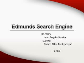 Edmunds Search Engine