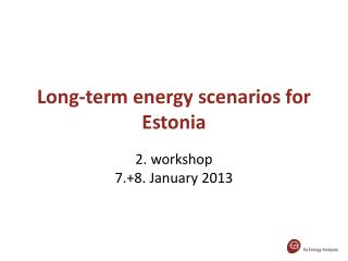 Long-term energy scenarios for Estonia