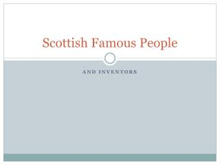 Scottish Famous People