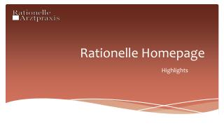 Rationelle Homepage