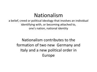 Nationalism: A Force for Unity or Disunity