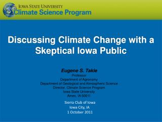 Discussing Climate Change with a Skeptical Iowa Public