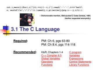 3.1 The C Language
