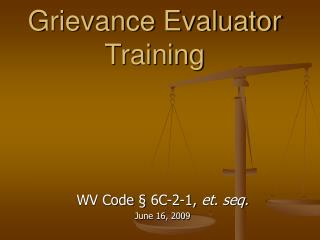 Grievance Evaluator Training