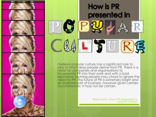 How is PR presented in