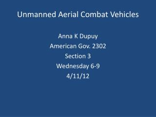 Unmanned Aerial Combat Vehicles