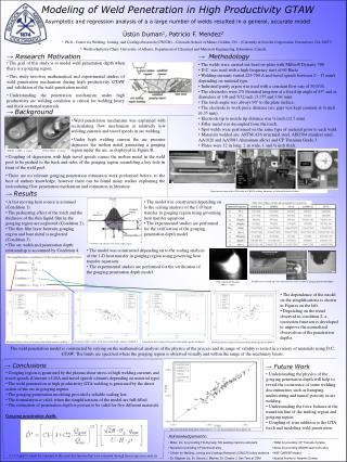 Modeling of Weld Penetration in High Productivity GTAW