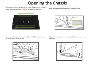 Opening the Chassis