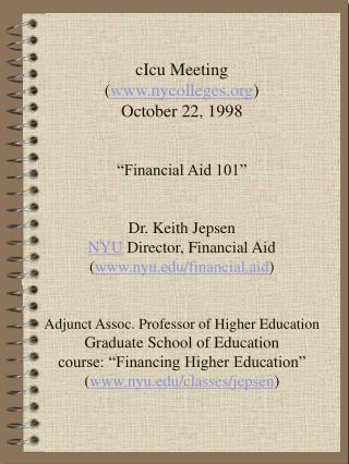 Financial Aid 101 in New York