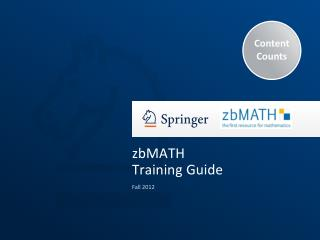 zbMATH Training Guide