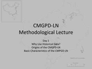 CMGPD-LN Methodological Lecture