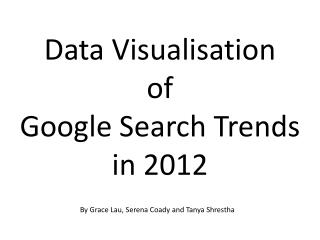 Data Visualisation  of Google Search Trends  in 2012