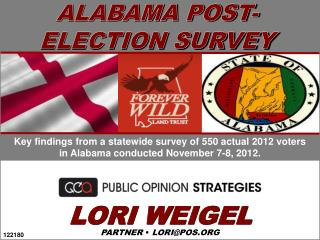 ALABAMA POST- ELECTION SURVEY