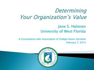 Determining Your Organization's Value