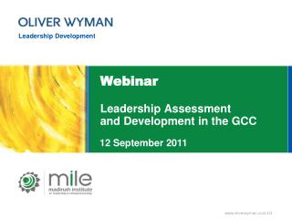 Webinar Leadership Assessment and Development in the GCC