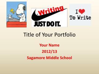 Title of Your Portfolio