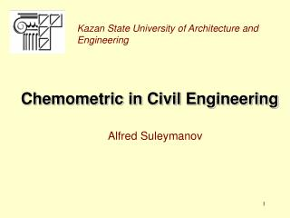 Chemometric in Civil Engineering
