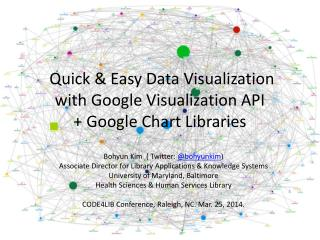 Quick & Easy Data Visualization  with Google  Visualization API  + Google Chart Libraries