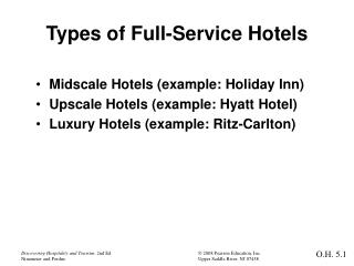 Types of Full-Service Hotels