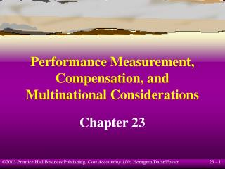 Performance Measurement, Compensation, and Multinational Considerations