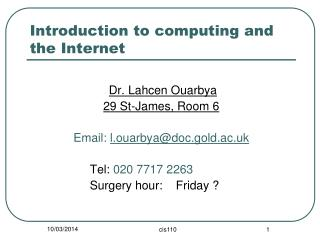 Introduction to computing and the Internet