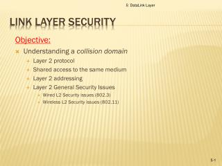Link Layer SECURITY