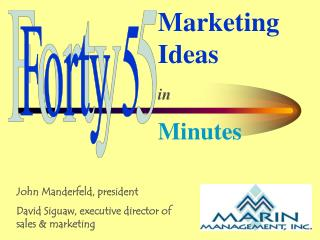 Marketing Ideas in Minutes